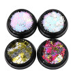 Nomeni 4 Boxes Snowflake Sequins Nail Art Decoration Glitter Set Mermaid Sparkly