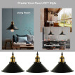 Fashion Retro Industrial Vintage Style Iron Ceiling Lamp Chandelier Pendant Light Fixture 22cm