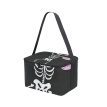 ALAZA Lunch Box Insulated Lunch Bag Large Cooler Vectors Skeleton In The Floral Frame Tote Bag