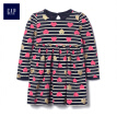 GAP flagship store baby girl sequins glitter striped love dress 399980 navy blue 3-6M