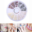 (Toponeto) 3D Acrylic Nail Art Tips Decoration Flat Back Glitter Rhinestones Pearls Beads