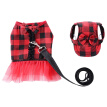 Cute Elegant Dog Cat Pet Vest Harness with Lace and Short Skirt Dress Matching Leash Set for Dogs Cats Pets