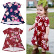 Newborn Kids Baby Girls Toddler clothes Princess Floral print Short Sleeve round neck cotton casual Mini Dresses Summer Clothe
