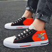Men's shoes autumn Korean version fashion high-top canvas board shoes leisure hand-painted tremble shoes of the same style
