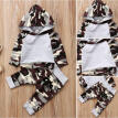 Fashion 2Pcs Newborn Toddler Baby Boys Camo Hoodie Tops Pants Outfits Set Clothes 0-24M