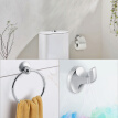 6pcs Wall Mount Bathroom Toilet Accessory Set Towel Rack Toothbrush Soap Paper Holder,Bathroom Tool, Bathroom Accessories