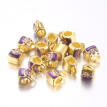 Alloy European Beads, with Rhinestone Beads, Large Hole Beads, Lead Free & Cadmium Free & Nickel Free, Bag, Golden