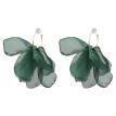 2019 New Acrylic Resin Green Leaves Dangle Earring For Women Fashion Tortoiseshell Geometry Acetate Party Jewelry ZA jewelry