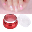 Greensen 2Pcs Silicone Nail Art Polish Transfer Stamper with Cap Large Scraper Set Manicure Tool