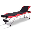 "Black&Red 72""L Portable Massage Table w/Free Carry Case-Black"