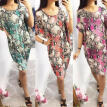 Women Lady Snakeskin Short Shift Dress Loose Baggy Party Beach Sundress Holiday