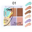 6 Colors Shimmer Highlighter Palette Face Contouring Makeup Highlight Bronzer Concealer Brighten Skin Color Cosmetics