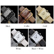 Woman Exquisite Retro Quartz Watch Simple Square Analog Wrist Watch Lady PU Leather Band Watches
