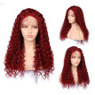 Gobestart  Long Full Wavy Front Lace Wig Afro Kinky Curly Natural Hair Wigs Women