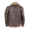 Mens Faux Leather Coat Long Sleeve Winter Fleece Lined Jacket Overcoat Outwear