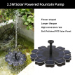 Solar Fountain Pump With Battery Backup 2.5W Flower-shaped Freestanding Floating Brushless Water Pump for Outdoor Bird Bath Garden