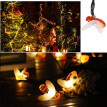 Solar 30 LEDs Bee String Lights Waterproof Outdoor Lights Holiday Festival Decoration Insect Lights with On/off&Mode Button for Tr