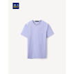 HLA Haishu House Short Sleeve T-Shirt Male 2019 Summer New Net Color V-neck Set Flower Yarn Short THNTBJ2R017A Light Purple (17)190/104A(56)