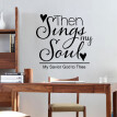 〖Follure〗Love Story Poetry Art Background DIY Wall Stickers Decals