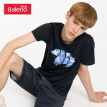 Baleno T-shirt male 2019 summer cotton printed short-sleeved shirt loose bottoming shirt male 88902286 00A S