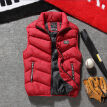 Winter Warm Mens Cotton Padded Sleeveless Jacket Vest Waistcoat Parka L-4XL