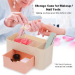 Storage Case Box Plastic for Makeup Nail Tools Rhinestone Brushes Containers Organizers Holder Empty with 7 Blocks in Different Si