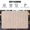 Bath Mat Bathroom Rug Carpet Soft Polyester Microfiber Floor Rug Non Slip Water Absorbent Kitchen Doormat Bedroom Chair Mat Machin