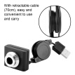 Greensen USB2.0 HD Webcam Web Camera High Definition Cam with Retractable Cable for Computer PC Laptop