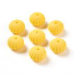 Food Grade Environmental Silicone Beads, Chewing Beads For Teethers, DIY Nursing Necklaces Making, Rondelle, Yellow, 18x13.5mm, Ho
