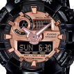 Casio G-Shock GA-700MMC-1A Digital Watch With Resin Band For Men - Black + Rose Gold
