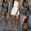 Women's Lace Halter Holiday Mini Playsuit Jumpsuit Summer Beach Dresses