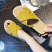 Summer slippers Korean version indoor and outdoor wear single-shoe Roman hi shoe casual sandals
