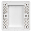 Delixi (DELIXI) switch socket cover blank blank fill panel fashion white flat large board