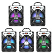 MS - 274BT Bluetooth Portable Speaker with LED Lights 6.5 inch Driver Unit