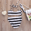 Kids Baby Girls Striped Bikini Set Swimwear Swimsuit Bathing Swimming Costume