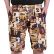Tailored Men's Summer Fashion Casual Ethnic Style Printed Loose Linen Beach Shorts Pants