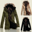Winter Mens Fur Collar Hooded Jacket Coats Warm Thicken Cotton Parka Outwear Top