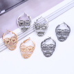 New Steampunk Silver Color Skull Stud Earrings Vintage Retro Hollow Skeleton Piercing Ear Gothic Punk Jewelry Silver