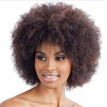 〖Follure〗Brown Synthetic Curly Wigs for Women Short Afro Wig African American Natural