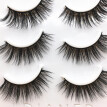 〖Follure〗3 Pair Luxury 3D False Lashes Fluffy Strip Eyelashes Long Natural Party