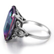 Multi-Color Blue Zircon Ring Men Women Rose Gold Wedding Size 6-10 Accessories