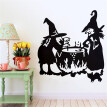 〖Follure〗Halloween Witch Background Wall Sticker Window Home Decoration Decal Decor