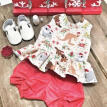 Christmas Toddler Kid Baby Girl Outfit Clothes T-shirt Top Dress+Short Pants Set