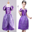 Vintage Kids Girls Princess Costume Fairytale Aurora Rapunzel Lace Party Dress