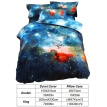 3D Galaxy Duvet Cover Set Single Double Twin/Queen Bedding Sets Universe Outer Space Themed Bed Quilt Cover Set
