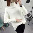 2018 new loose turtleneck sweater women fall and winter bottom wear Korean version of long sleeve pure color sweater is thicker