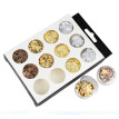 (Toponeto) Gold Silver 4 Colors Tinfoil 3D Nail Art Stickers DIY Decorations Glitter Nail