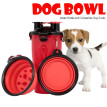 Dog Bowl Water Bottle Pet Food Feeder Container with Collapsible Dog Bowls for Outdoor Dog Walking Hiking Travelling
