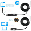 OWSOO  6 LED 7MM Lens Endoscope IP67 Waterproof Inspection Borescope USB Wire Snake Tube Camera 6LEDS for OTG Compatible Android S