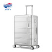 American Travel AmericanTourister Trolley Case Aluminum Magnesium Alloy Travel Case 25 Inch Male and Female Luggage Mechanical Bearing Universal Wheel TSA Lock TI2 Silver